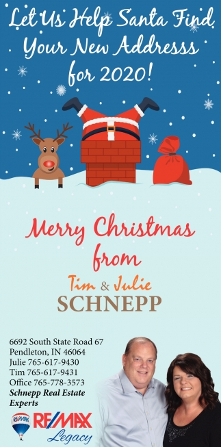 Merry Christmas From Tim & Julie Schnepp