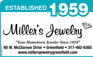 Your Hometown Jeweler Since 1959