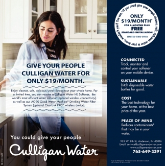 Give Your People Culligan Water For Only $19/Month