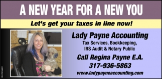 Let's Get Your Taxes In Line Now!