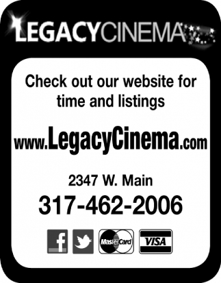 Check Out Our Website For Time And Listings