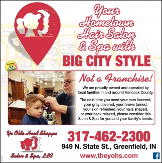 Your Hometown Hair Salon & Spa With Big City Style