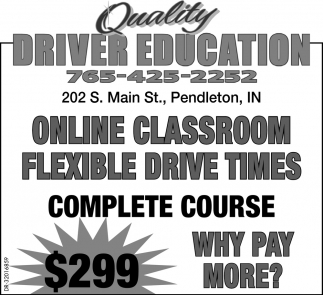 Online Classroom Flexible Drive Times