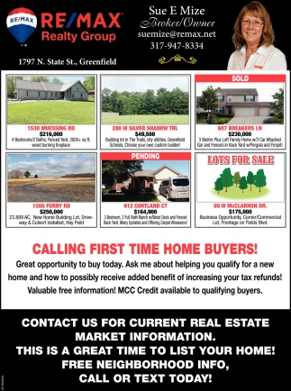 Calling First Time Home Buyers!