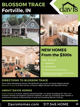 New Homes From The $300s