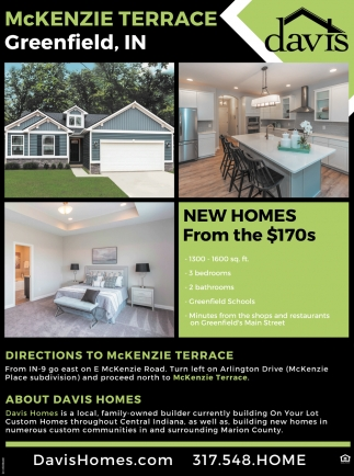 New Homes From The $170s