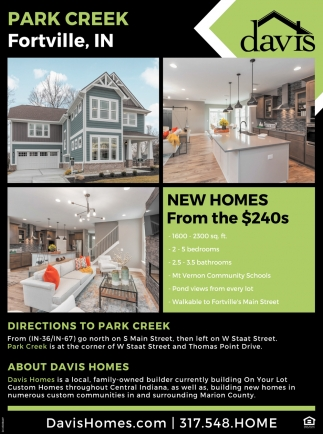 New Homes From The $240s