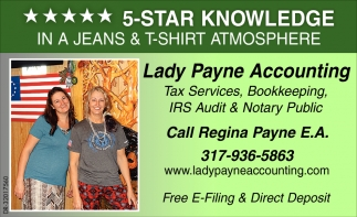 Tax Services - Bookkeeping - IRS Audit - Notary Public
