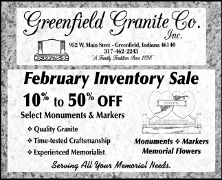 February Inventory Sale