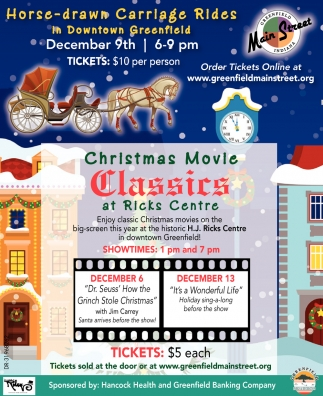 Christmas Movie CLassics At Ricks Centre