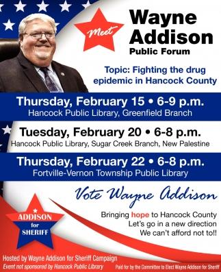Vote Wayne Addison