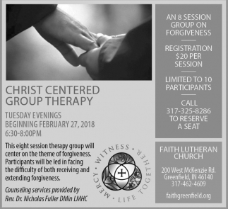 Christ Centered Group Therapy