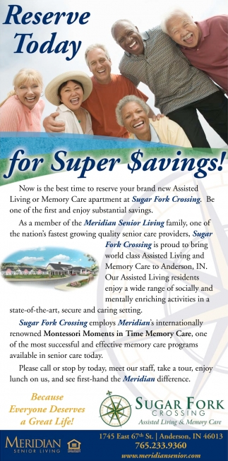 Reserve Today For Super Savings!