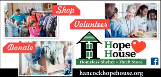 Shop, Volunteer, Donate