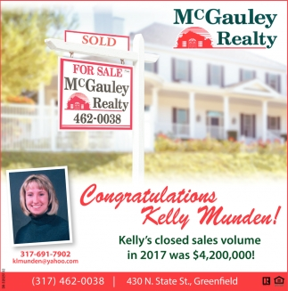Congratulations Kelly Munden!