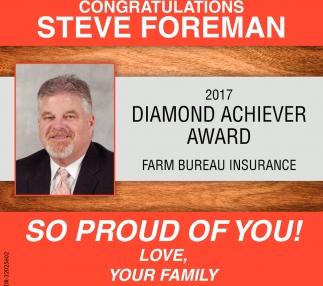 Congratulations Steve Foreman