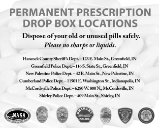 Permanent Prescription Drop Box Locations