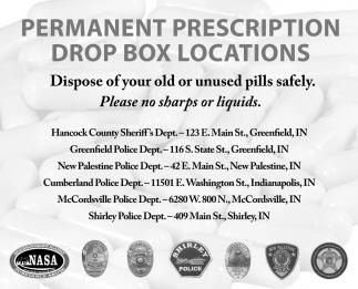 Permanent Prescription Drop Box Locations