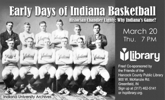 Early Days Of Indiana Basketball