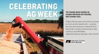 Celebrating AG Week