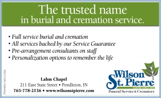 The Trusted Name In Burial And Cremation Service