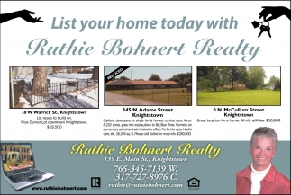 List Your Home Today Wth Ruthie Bohnert Realty