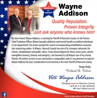 Vote Wayne Addison
