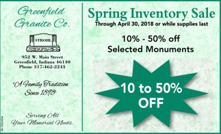 Spring Inventory Sale