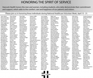 Honoring The Spirit Of Service