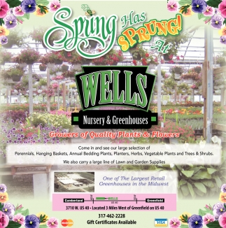 Ads For Wells Nursery Greenhouses In Greenfield