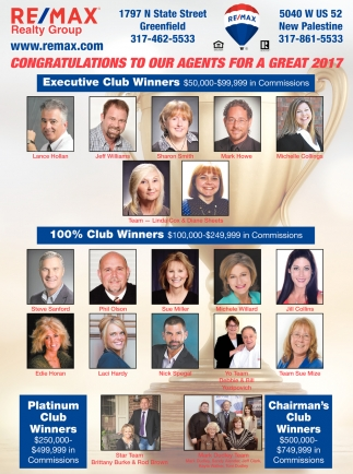 Congratulations To Our Agents For A Great 2017