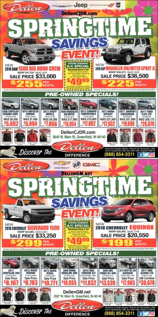 Springtime Savings Event!