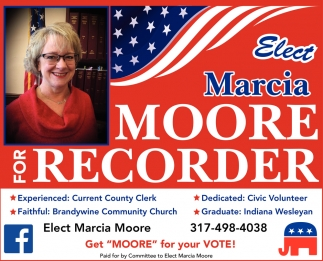 Elect Marcia Moore For Recorder
