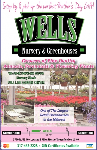 Ads For Wells Nursery And Greenhouses In Greenfield