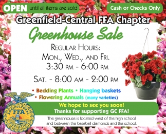 Greenhouse Sale