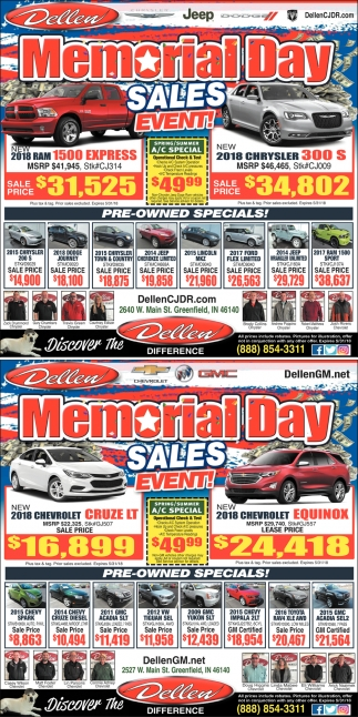 Memorial Day Sales Event!