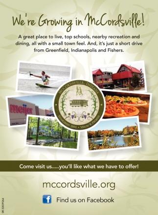 We're Growing In McCordsville!