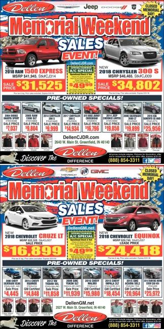 Memorial Weekend Sales Event!