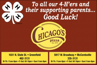 To All Our 4-H'ers And Their Supporting Parents... Good Luck!