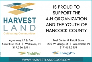 Is Proud To Support The 4-H Organization And The Youth Of Hancock County