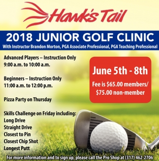 2018 Junior Golf Clinic