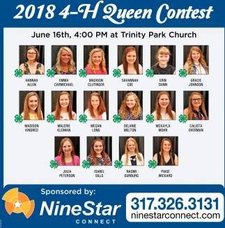 2018 4-H Fair Queen Contest