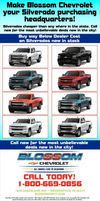 Make Blossom Chevrolet Your Silverado Purchasing Headquarters!